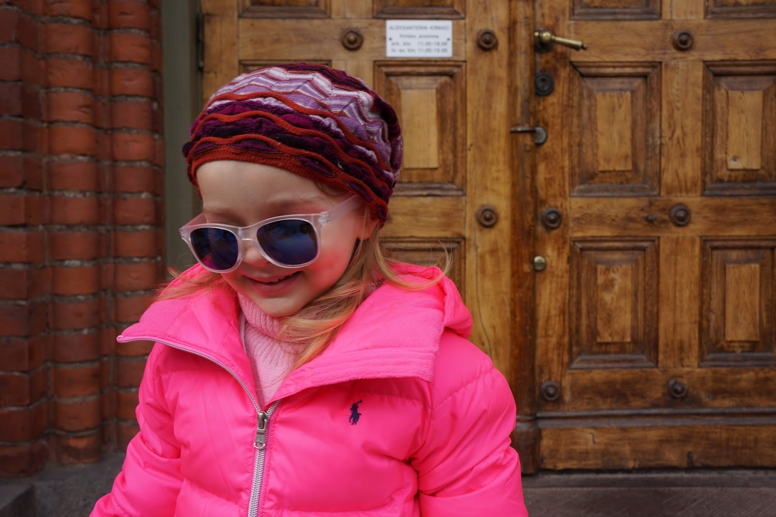 toddler girl pink ralph lauren down jacket missoni beanie sunnies