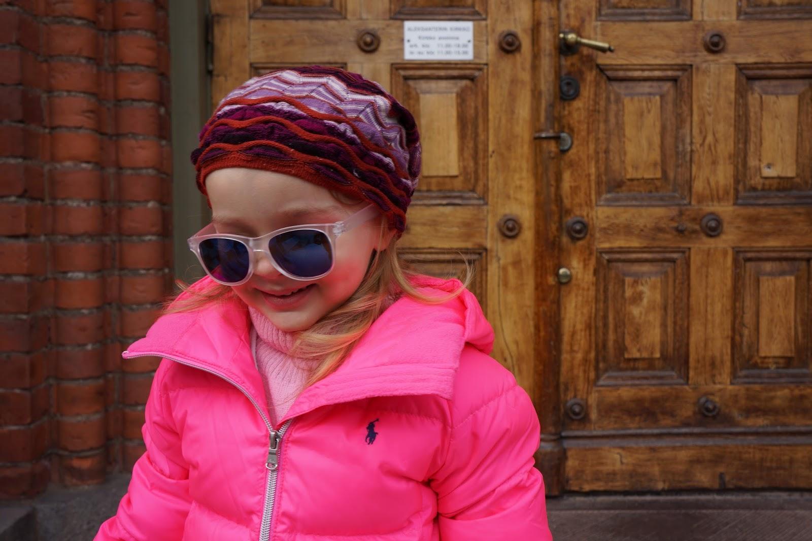 toddler girl pink ralph lauren down jacket missoni beanie sunnies