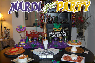 Mardi Gras Table by Kendall's Entertaining Life