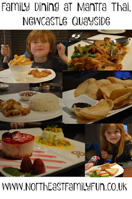Children's menu and family dining at Mantra Thai restaurant on Newcaslte Quayside - a review