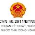 QCVN 40:2011/BTNMT - Quy chuẩn kỹ thuật quốc gia về nước thải công nghiệp