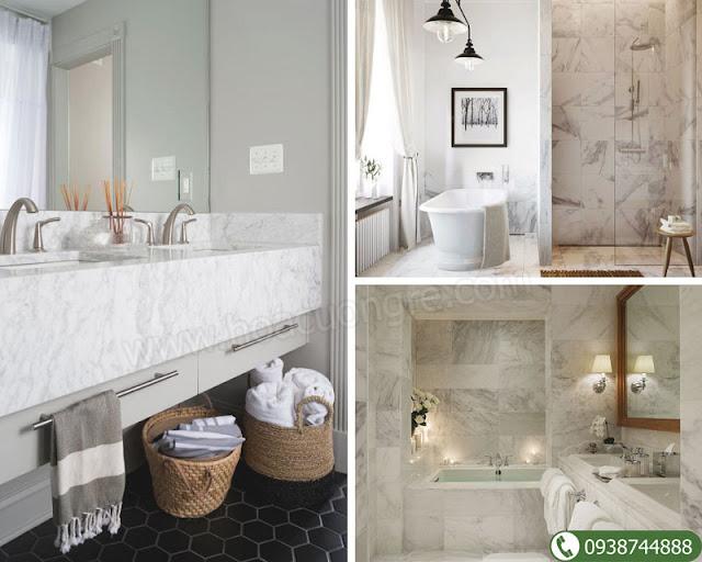 Đá cẩm thạch tự nhiên ốp phòng tắm