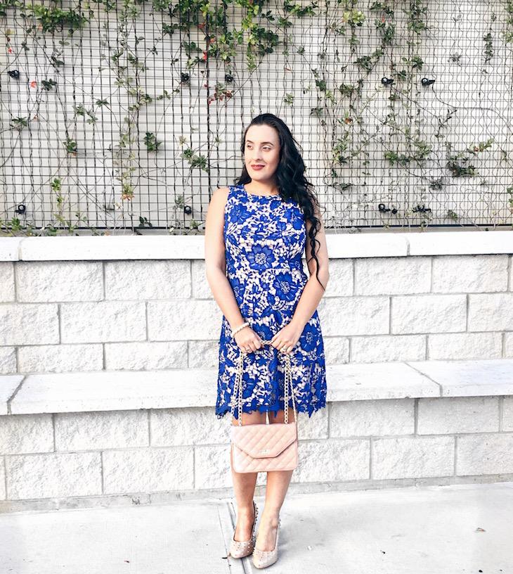 Sunday-Glam-OOTD-Blue-Embroidered-Dress-Vivi-Brizuela-PinkOrchidMakeup