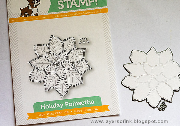 Layers of ink - World Cardmaking Day Tutorial by Anna-Karin, SSS Poinsettia Christmas Card