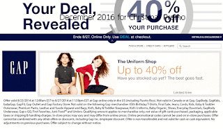 Gap coupons december 2016