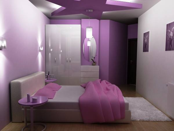 Small Purple Bedroom Decorating ideas - Small Room Decor 2015 - 2016