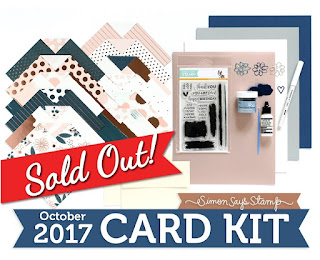 Simon Says Stamp: October 2017 Card Kit: Brushstroke Messages