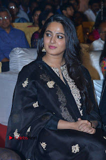 Actress Anushka Anushka Shetty Stills in Black Salwar Kameez at Om Namo Venkatesaya Audio Launch Event  0030.JPG