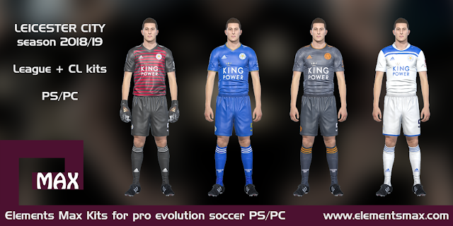 Leicester City PES Kits 2018/19