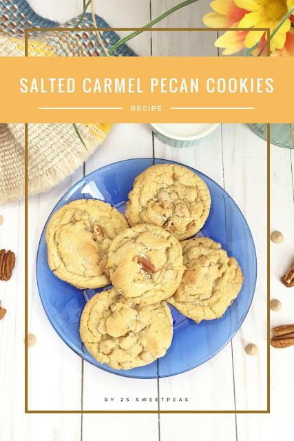 Salted Caramel Pecan Cookies