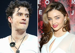 Orlando Bloom and Miranda Kerr at the premiere of 'Romeo and Juliet'