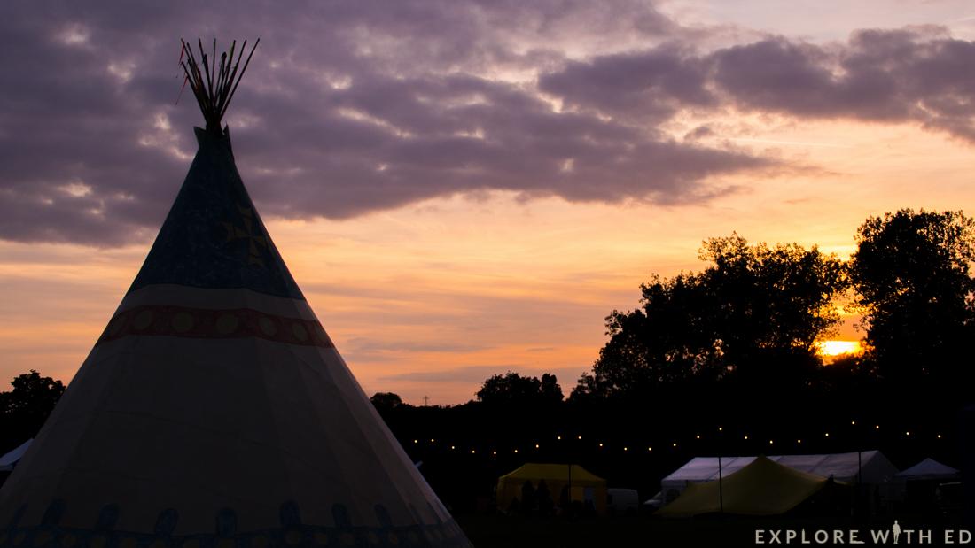 Tipi, Sunset, Blogstock