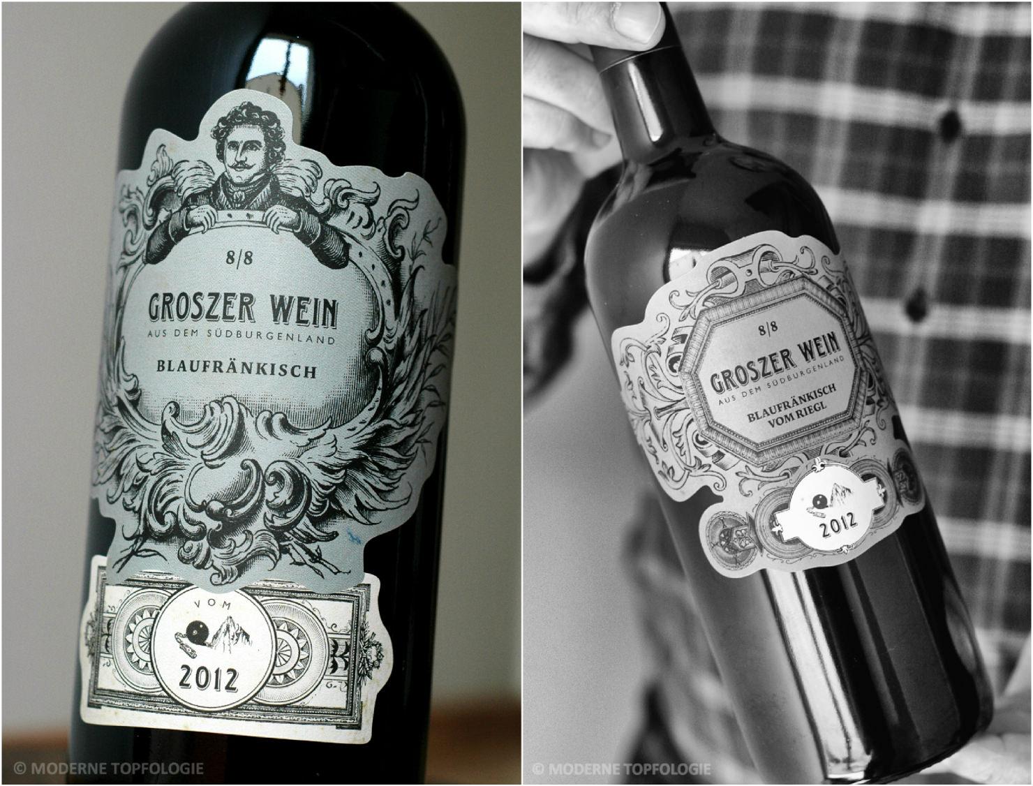 Blaufränkisch und Blaufränkisch vom Riegl von Groszer Wein im Burgenland / Österreich. #MoToLogie #Wein
