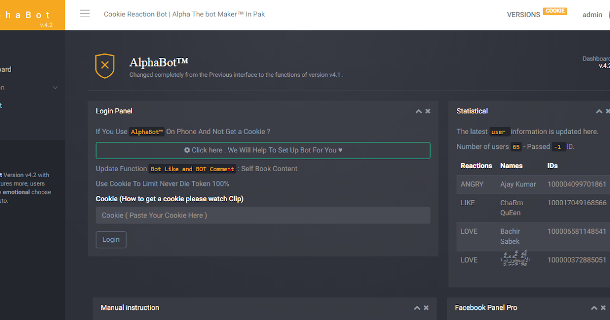 Reaction Cookie Bot Script - Muhammad Faisal Web