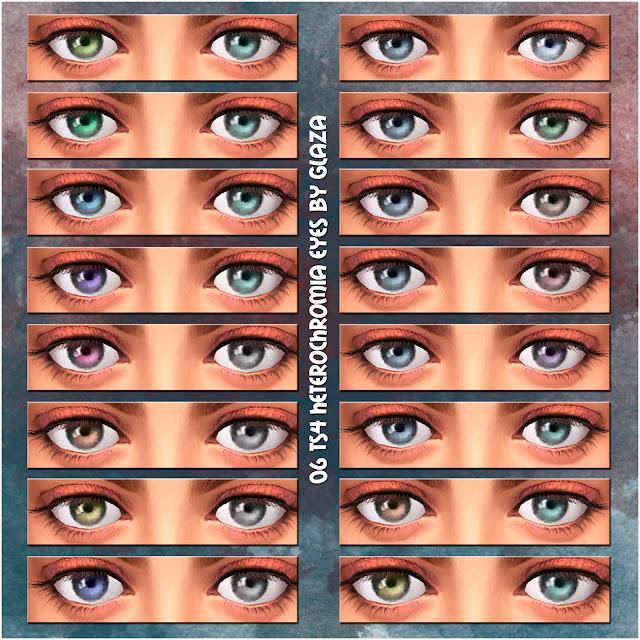 06 TS4 heterochromia eyes by glaza