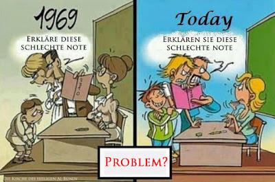 Schule Comic lustig - Damals und Heute