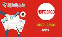 HDFC ERGO Recruitment