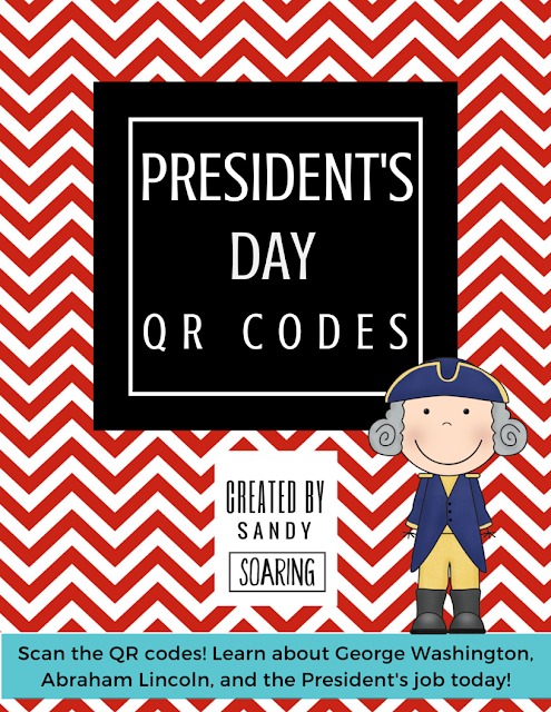 A fun President's Day reading and writing activity! Students can scan QR codes to learn about George Washington, Abraham Lincoln, and the President's job today!