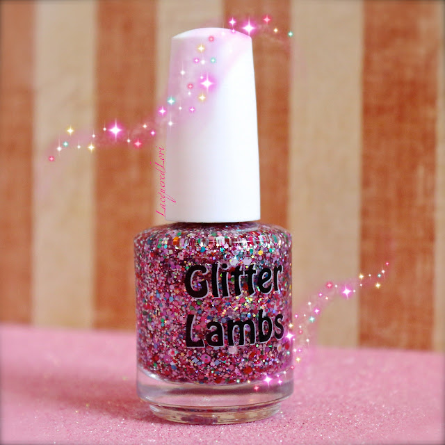 Strawberry ShortCake Glitter Lambs Nail Polish Picture By @LacqueredLori