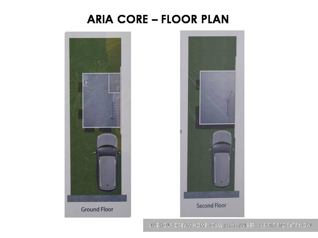 Floor Plan of Aria Core - Idesia Dasmarinas | Affordable Pagibig House for Sale Dasmarinas Cavite