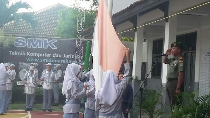 Danramil 05/Sawangan Minta Siswa Jaga Nilai Nasionalisme dan Patriotisme