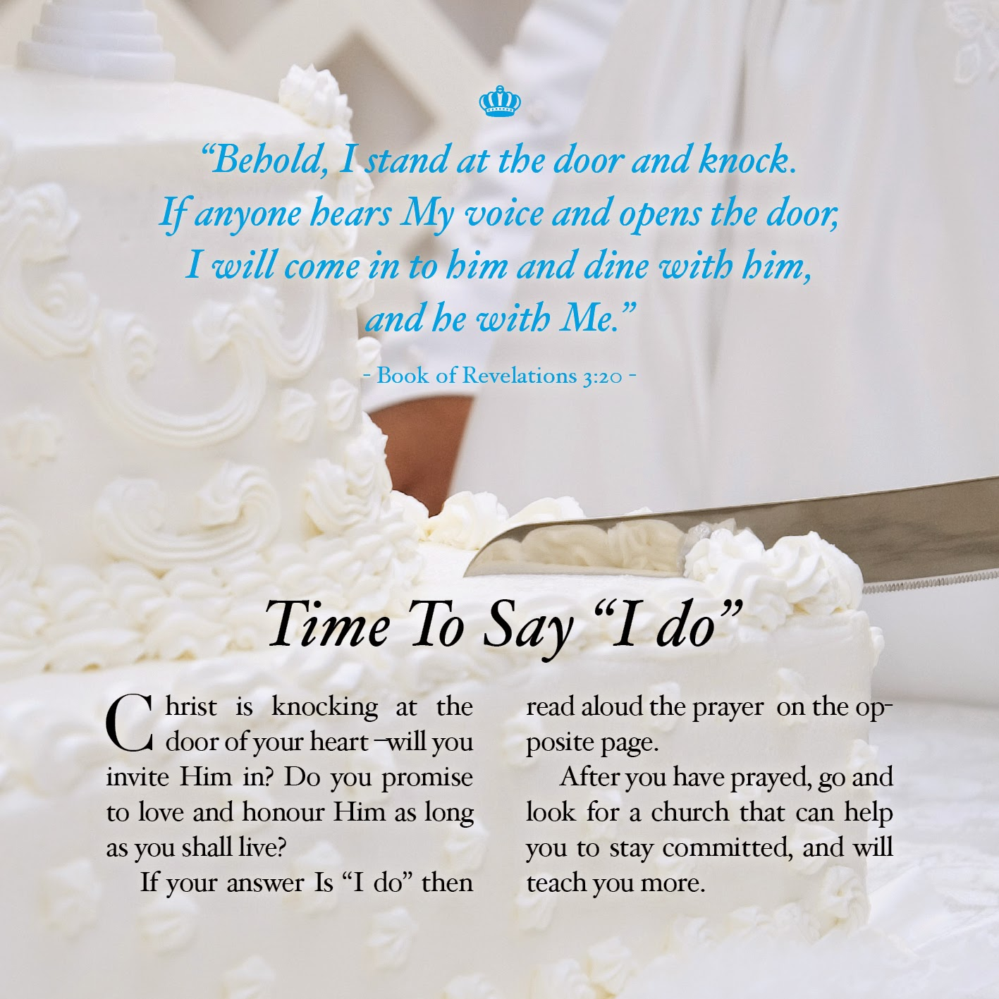 Home Printable Wedding Invitation Evangelism Tract | Freevangelism