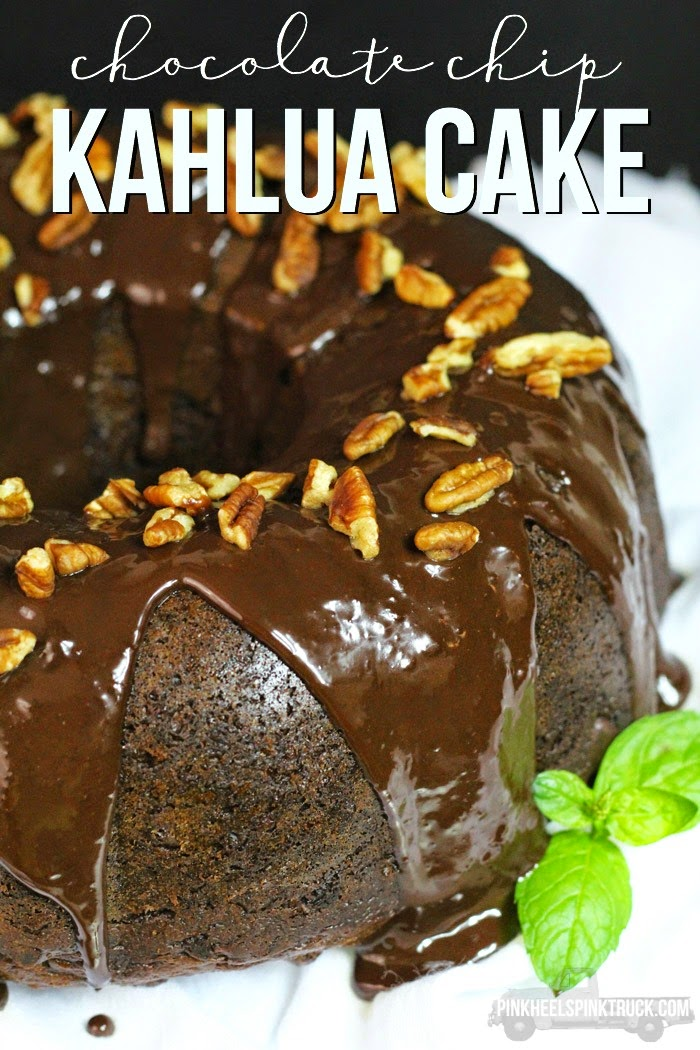 chocolate chip Kahlua cake