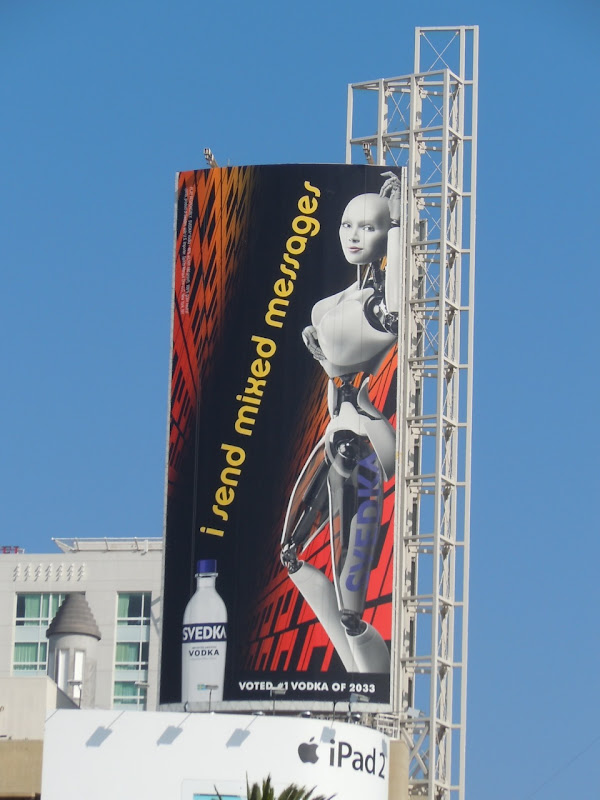 Svedka mixed messages fembot billboard