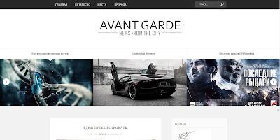 Avant Garde - адаптивный шаблон для blogger