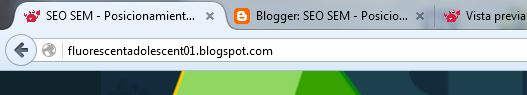Las Palabras clave en el título de la página aparecen en la pestaña del navegador