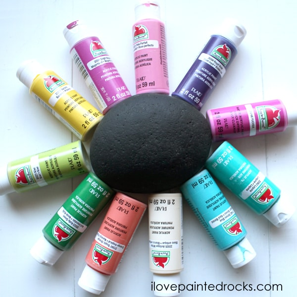 paints to use for flower painted rocks