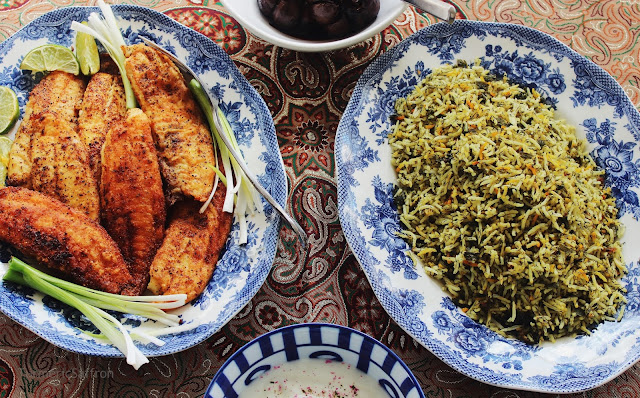 Persian Herbed Rice with Fish