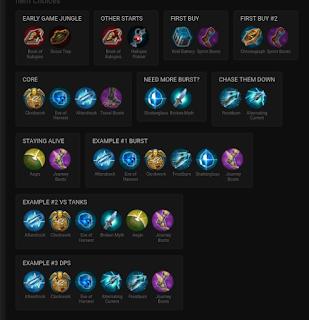 Ini adalah daftar item build Taka Cp Vainglory terbaik.