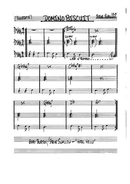 Partitura Trombón Steve Swallow