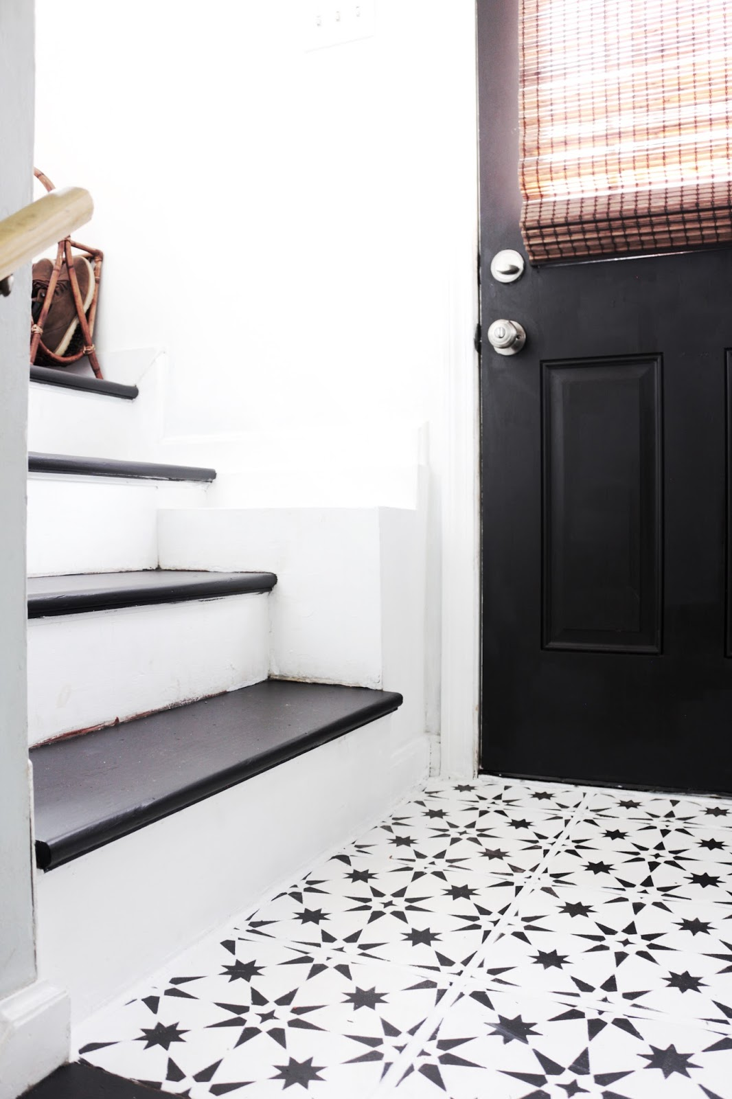 fwmadebycarli mini mudroom-stenciled tile floors