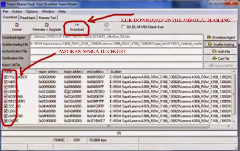 Tutorial Cara Flash Lenovo A369i via Flashtool