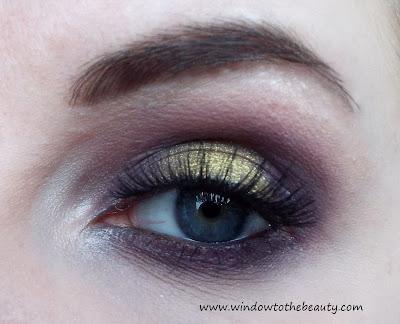 fiolet ze złotem makijaż