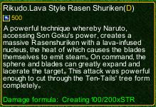 naruto castle defense 6.2 naruto Rikudo.Lava Style Rasen Shuriken detail