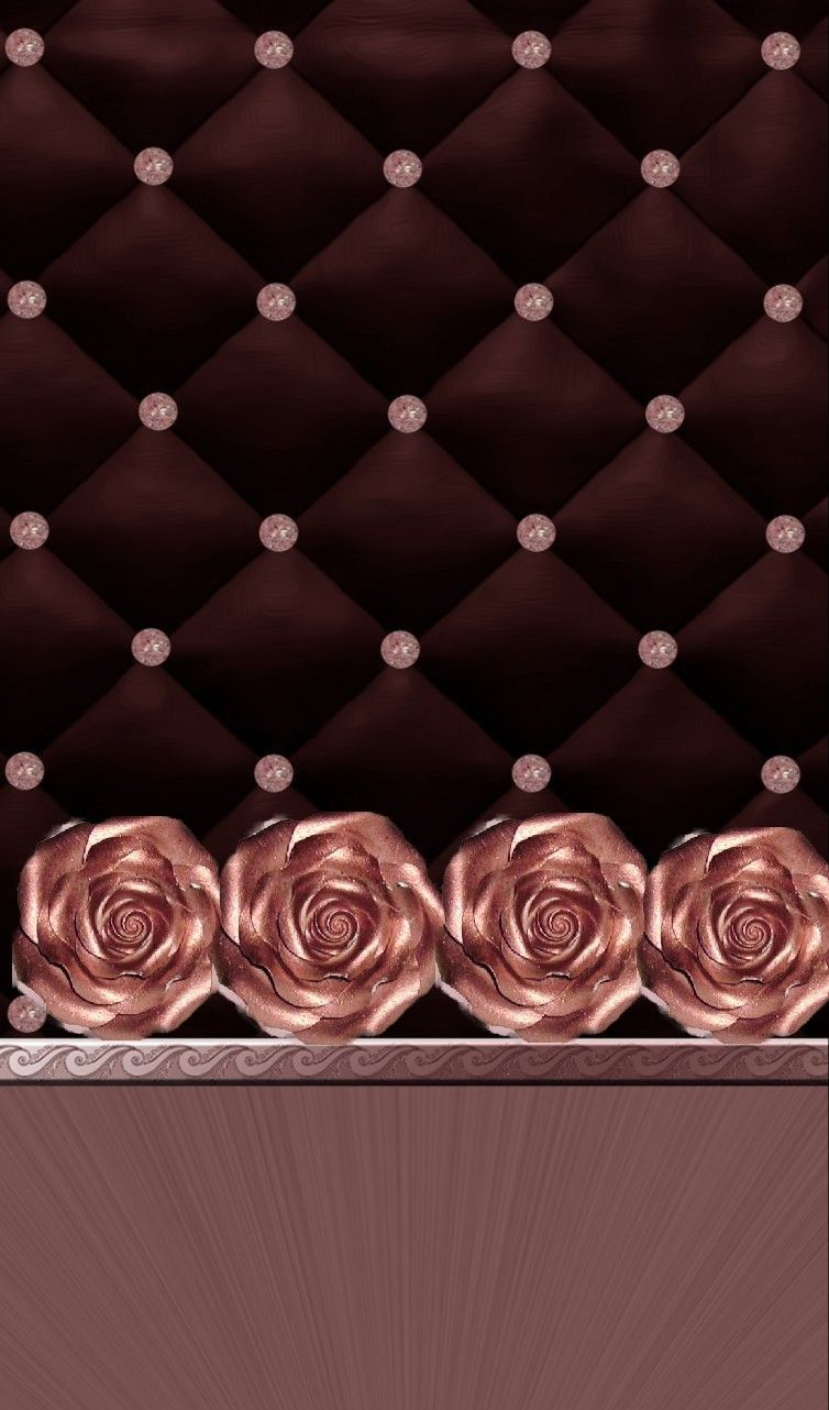 Black And Rose Gold Iphone Cellphone Wallpaper Bling