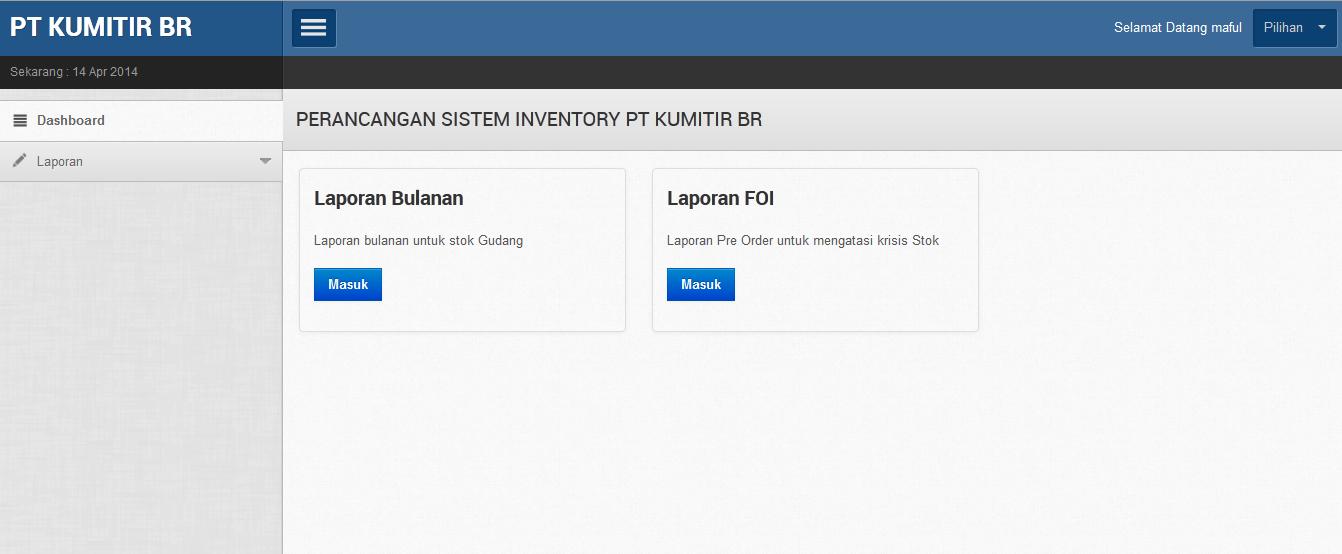 pimpinan - Aplikasi Inventory Barang Dengan Php Dan Mysql