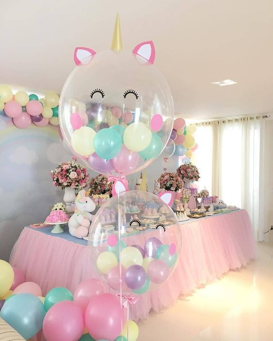 decorar con globos unicornios