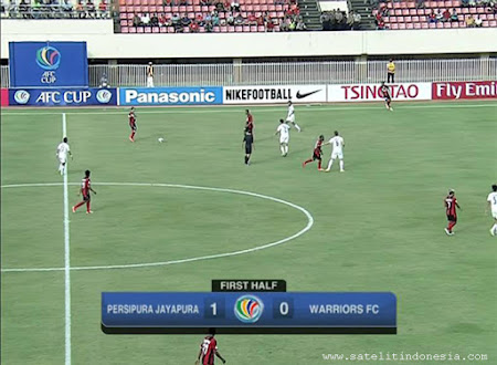 frekuensi channel Persipura vs Warriors