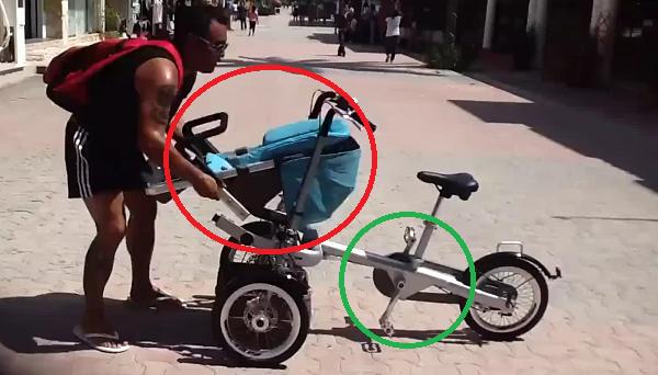 La fant stica silla de bebe que se convierte en bicicleta todo un 2 en 1 - Silla bebe bicicleta delantera ...