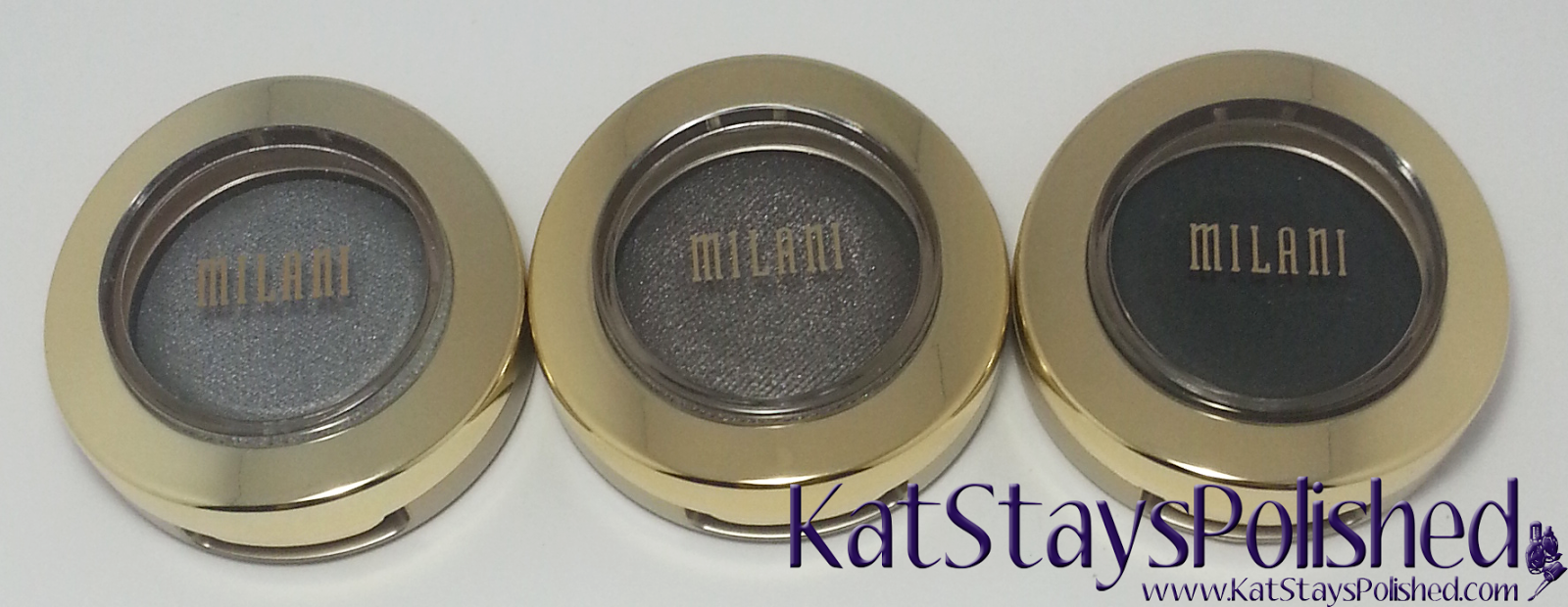 Milani Bella Eyes Gel Powder Eye Shadow - Gray - Charcoal - Black | Kat Stays Polished