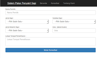 Source code aplikasi sistem pakar penyakit sapi berbasis website php