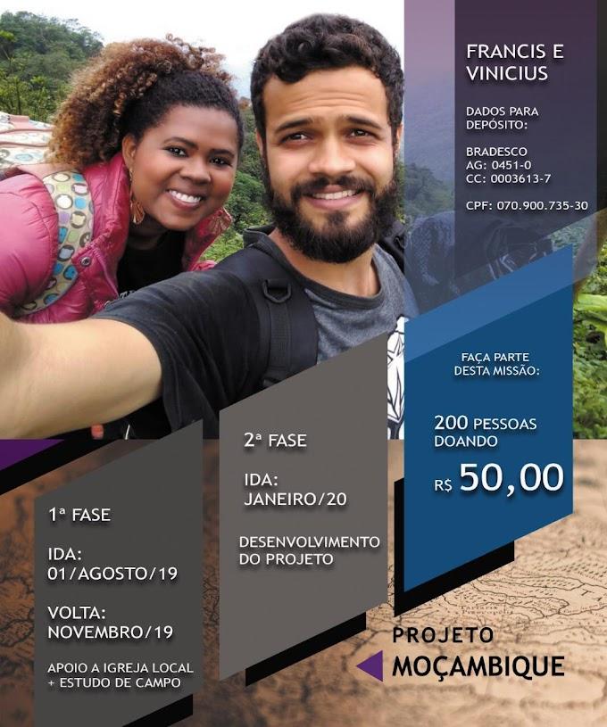 """Casal de missionários cria o """"Projeto Moçambique"""". Saiba como participar"""