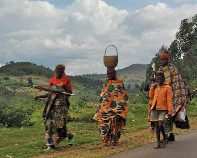 Road between Burundi Gitega and Bujumbura