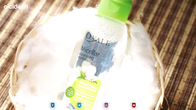 review OVALE MICELLAR WATER BRIGHTENING, harga OVALE MICELLAR WATER BRIGHTENING,