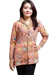 model baju batik wanita terbaru atasan modern