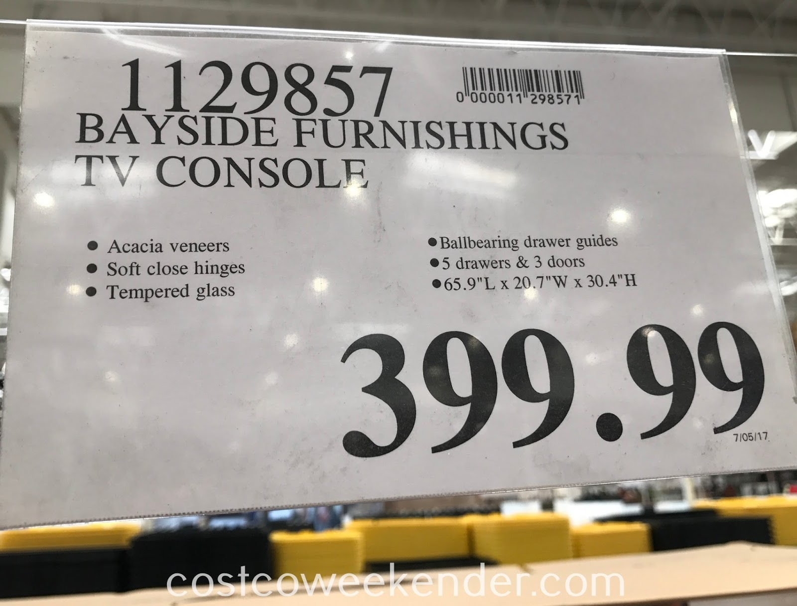 Deal for the Bayside Furnishings TV Console at Costco
